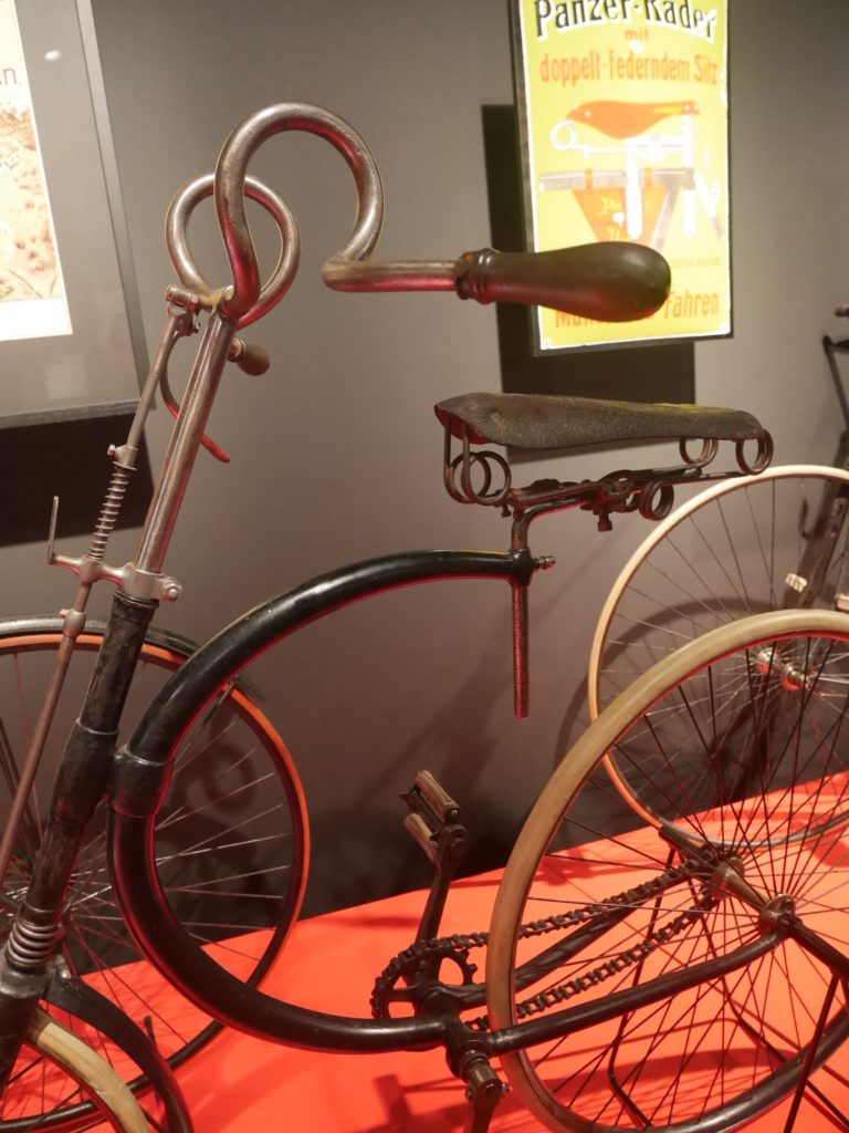 """Hirondelle"", France, 1890, 22.5 Kg. A Fancy Twisted Handlebar And A Half-moon Frame Make It A Design Bicycle."
